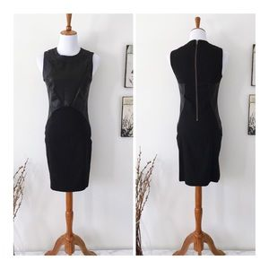 CUT25 Stretch Denim & Leather Sleeveless dress 2